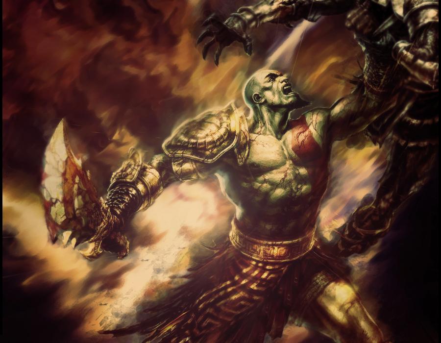God Of War- Kratos Unleashed by Kash2Smash