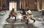 Qui-gon and Obi Wan vs Darth Maul