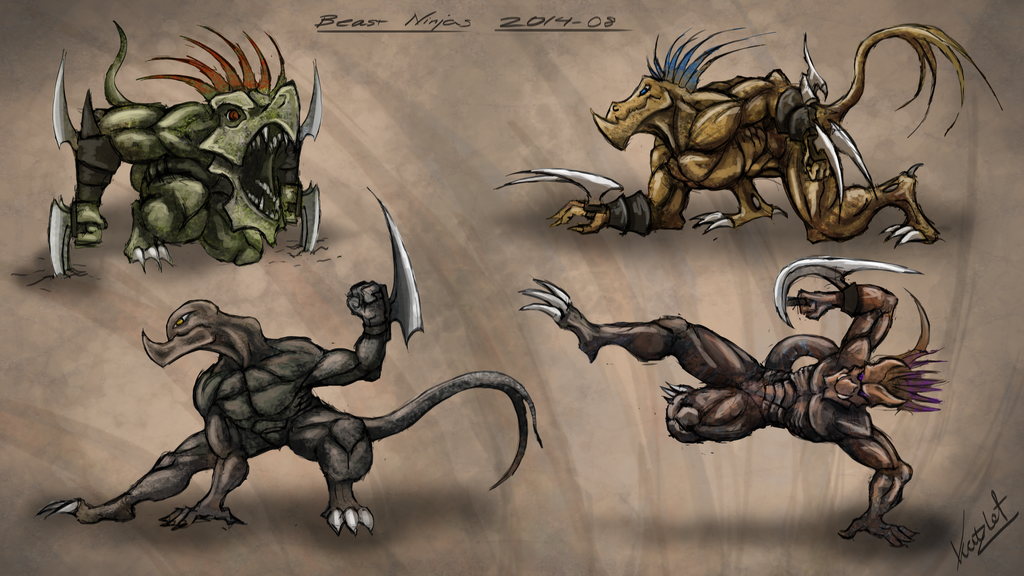 Beast Ninjas by Kritzlof