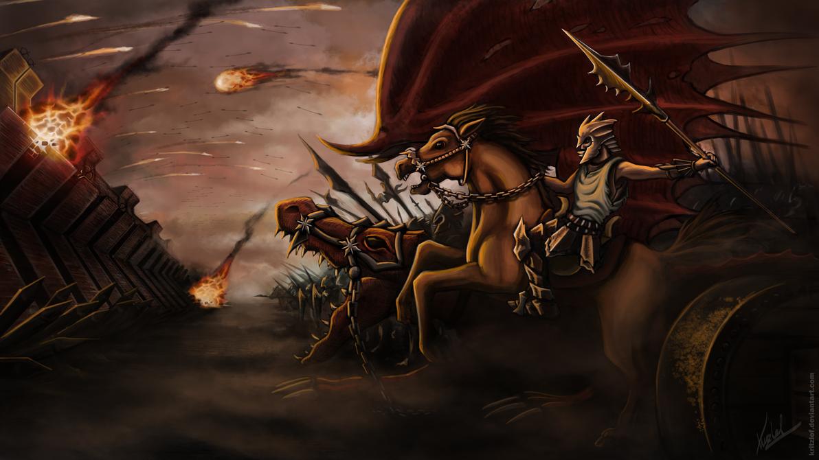 Fantasy Siege Bombardment by Kritzlof