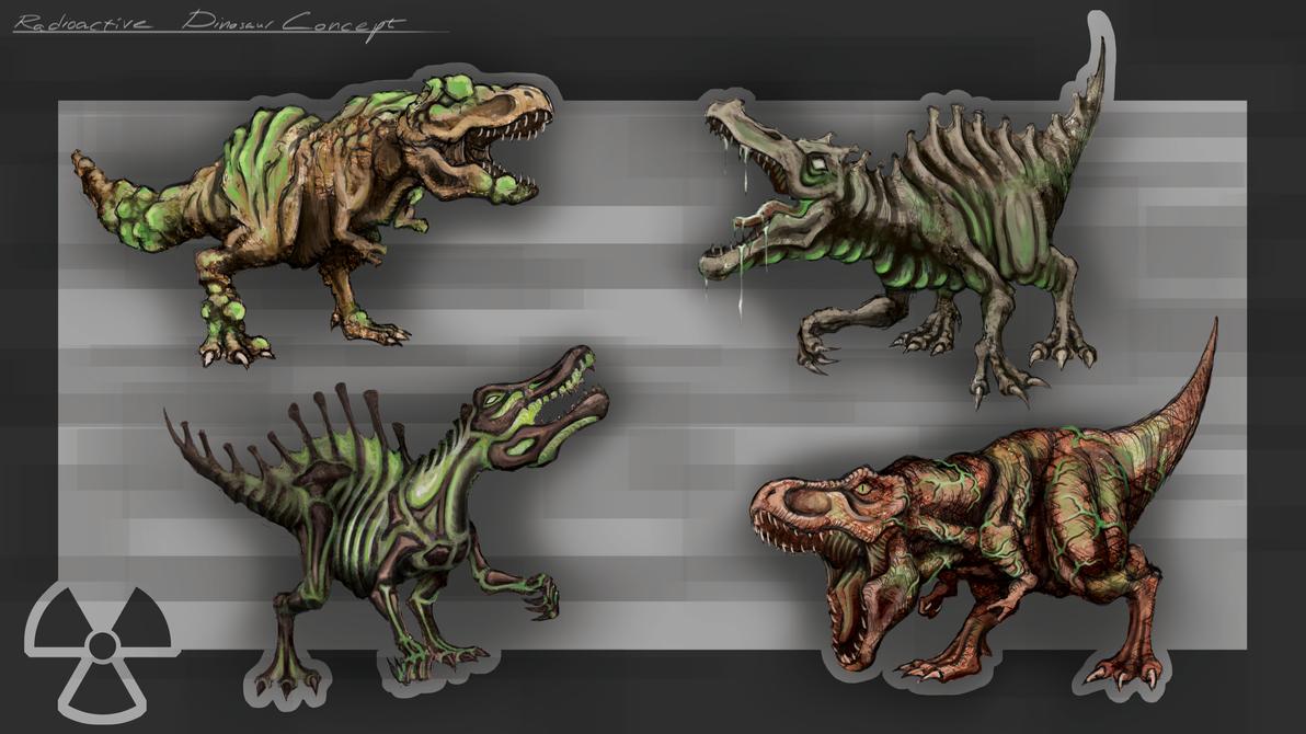 COW#335 Radioactive Dinosaur by Kritzlof