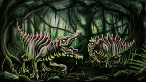 COW#335 Radioactive Dinosaur Final by Kritzlof