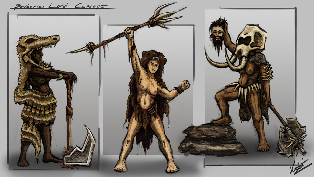 CHOW #365 - Barbarian Lord - Concepts by Kritzlof