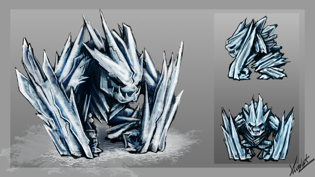 Ice Golem by Kritzlof