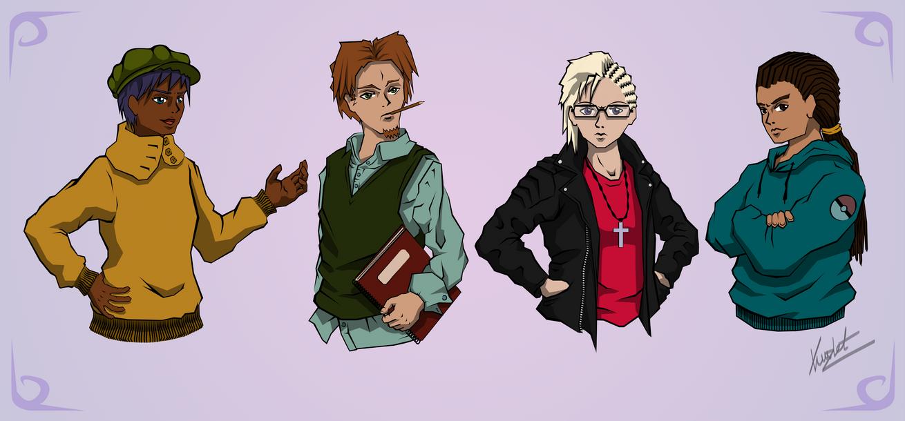 Anime Characters by Kritzlof