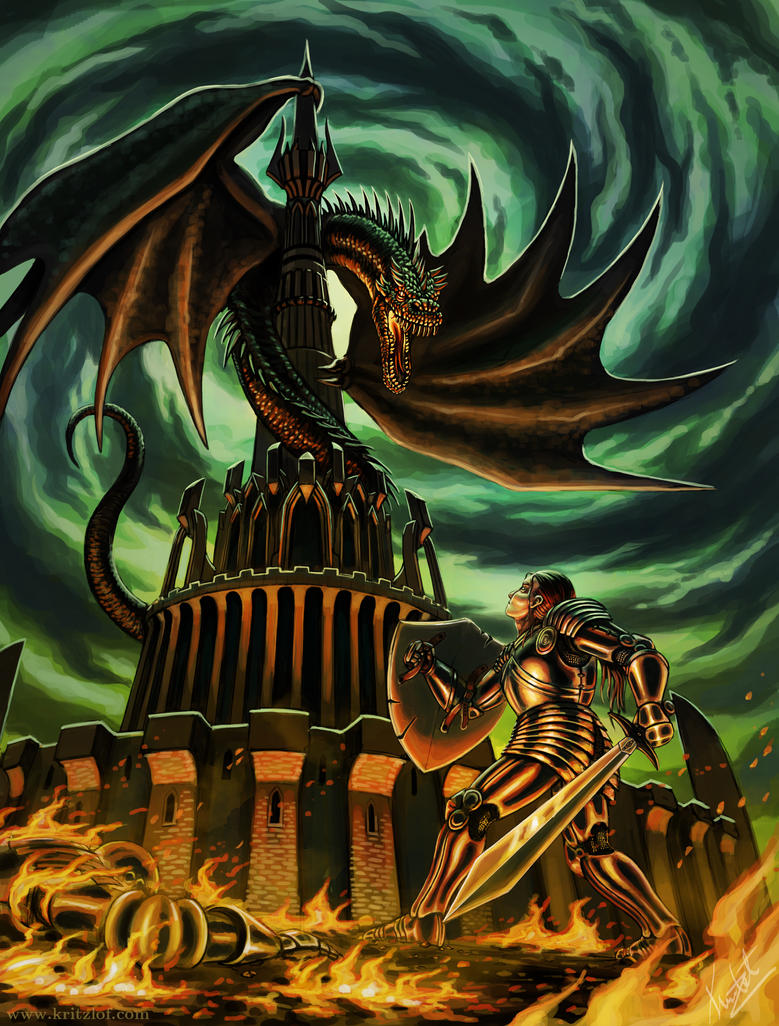 Tower Dragon by Kritzlof