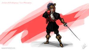 Daily Paint 233 - Julie d'Aubigny - La Maupin