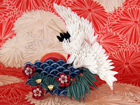 Celebrating new year kanzashi