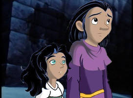 Clopin and Esmeralda as Kids by iheartcartoons