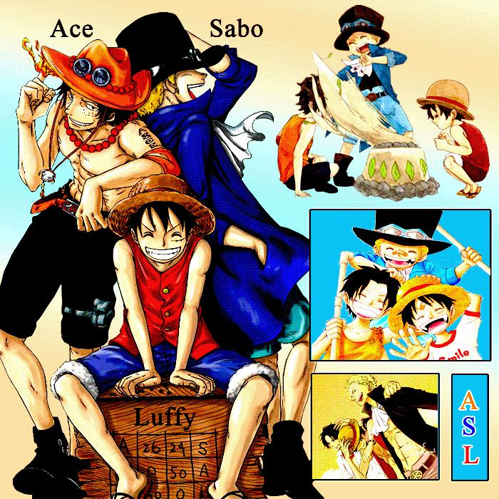 ACE SABO LUFFY by OtakuOnePiece on DeviantArt