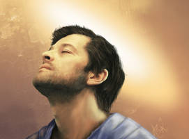 W:NGS Castiel : Revelation (face close up) by Arasiriel