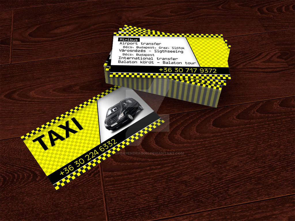 TAXI business card by EronPendragon on DeviantArt