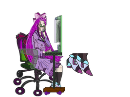 EVIL SCIENTIST Etsuko at work transparent png by TanithLipsky