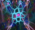 neon webs fractal whee