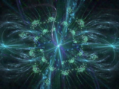 blue fractal explosion