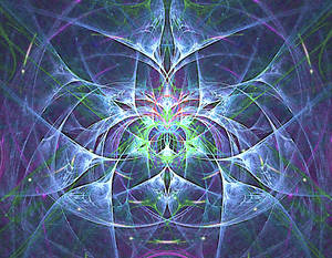 The blooming heart fractal stock