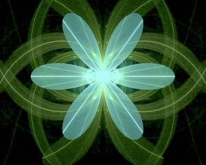 heart flowers aqua green fractal stock
