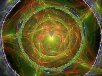 star heart circle fractal 9eyr8924 stock