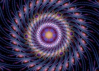 massive super spiral fractal stock