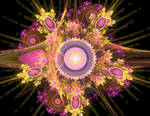 like a conquerer pink yellow orange fractal stock