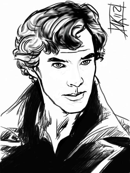 Sherlock Holmes Bbc Drawing Bbc sherlock thought by semieBbc Sherlock Drawing