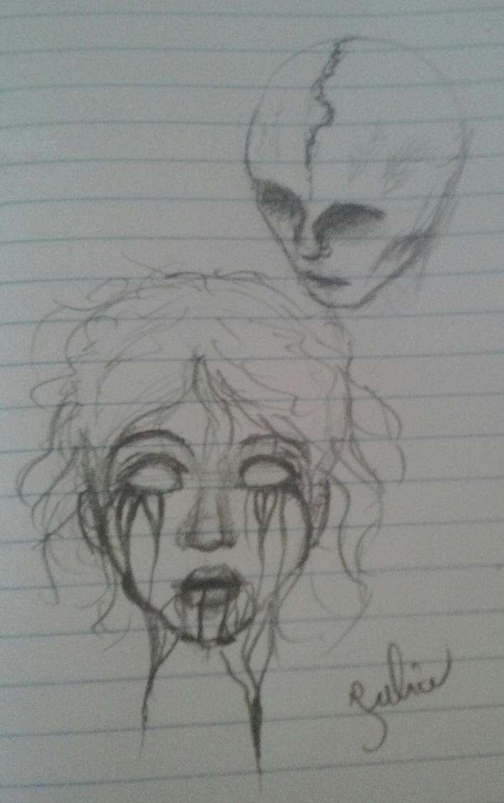 horror doodles by juliabubik