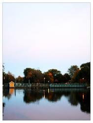 Reflection of a floodgate by Myana