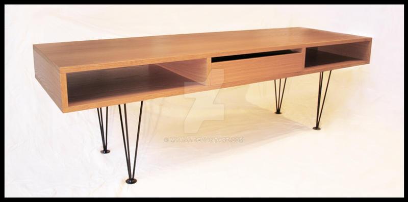 Sofa-table in oak by Myana