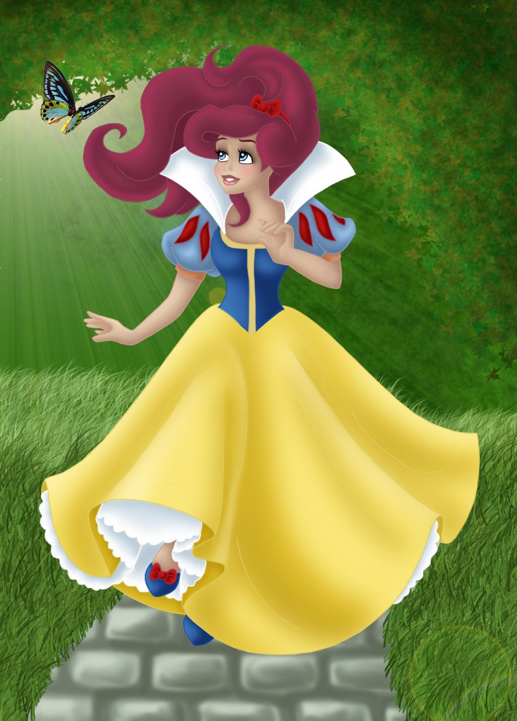 Princesses Disney - Page 4 __ARIEL_as_SNOW_WHITE___by_Opal_I