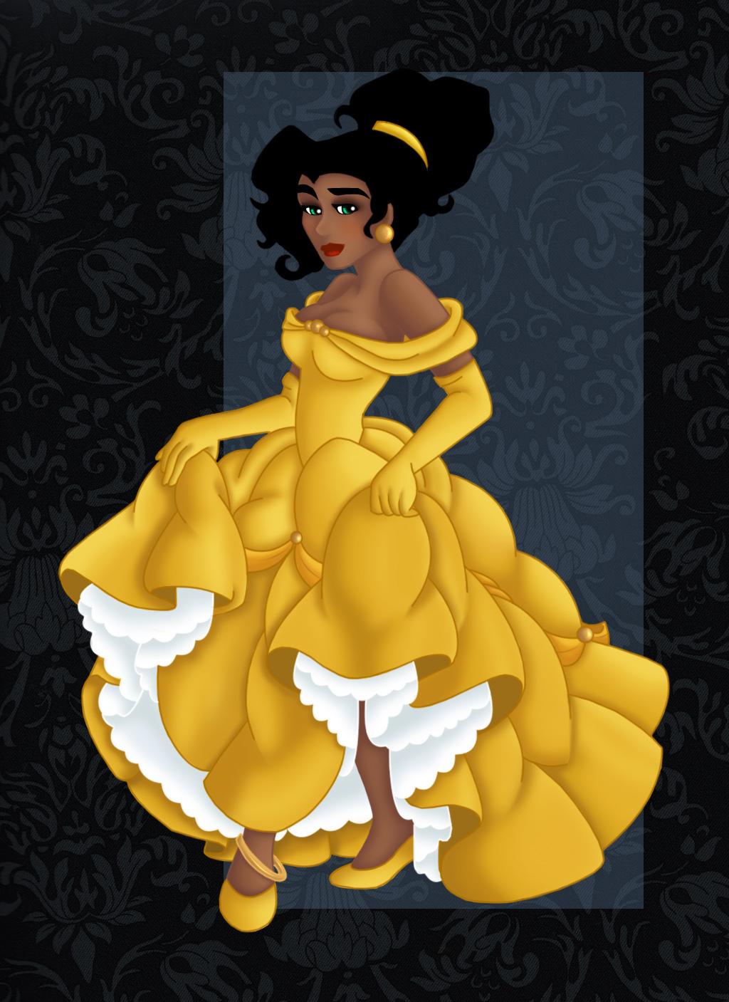 Princesses Disney - Page 4 __ESMERALDA_as_BELLE___by_Opal_I