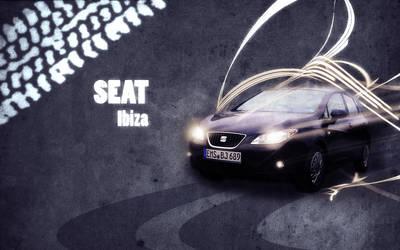 Seat Ibiza 6j - Wallpaper by P3r0