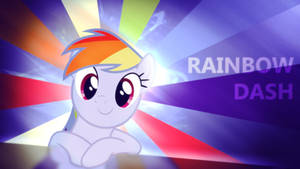 Rainbow Dash - 4K Wallpaper - With Stripes