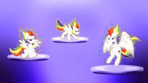 Rainbow Dash Transformation - 4k Wallpaper