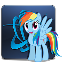 Battle.net Launcher Icon - Rainbow Dash