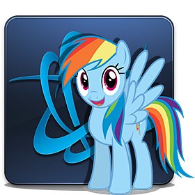 Battle.net Launcher Icon - Rainbow Dash by P3r0