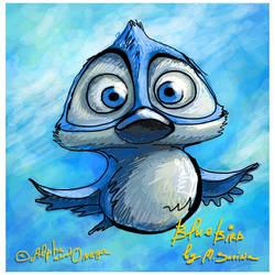 Blue bird by Marsulu