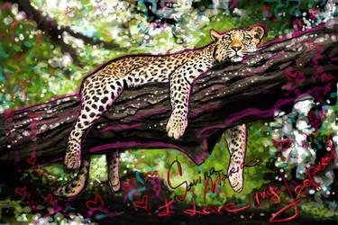 i love my leopard by Marsulu