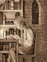 The Mage's Study by Terrizae
