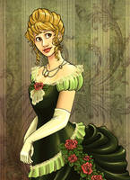 Julia- 1870s Ball Gown by Terrizae