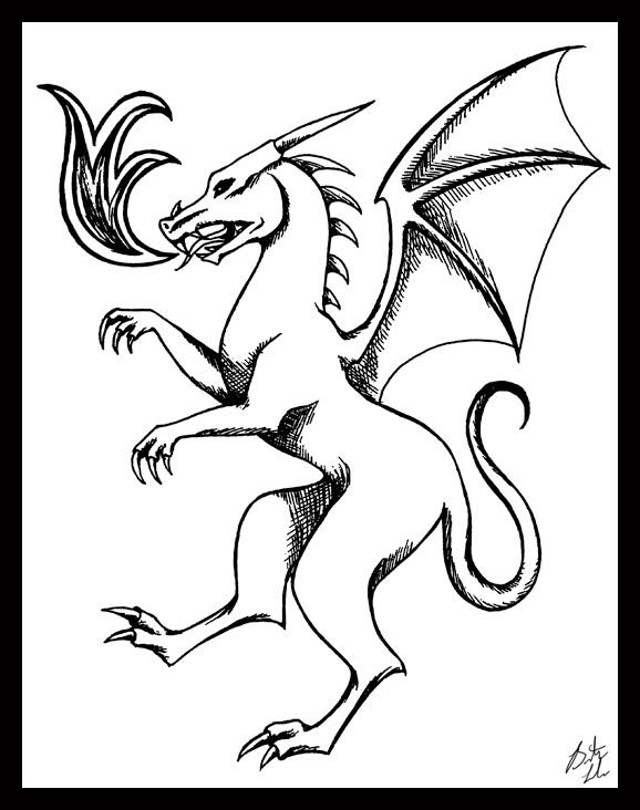 Dragon Heraldry: Heraldic Dragon By Terrizae On DeviantArt