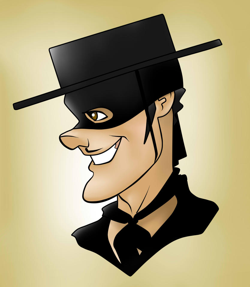 Tyrone Power Zorro Toon by Kryptoniano