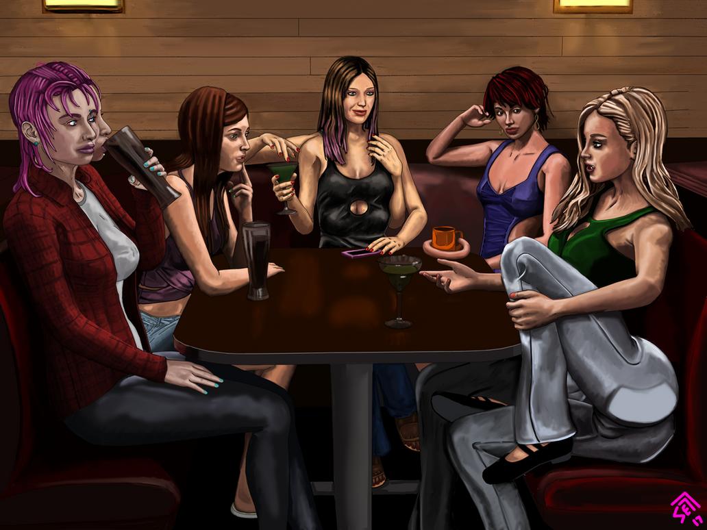 Karaoke Night - Circle of Friends by somethingelse77