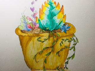 Watercolor plants!! by Shimmerozoo