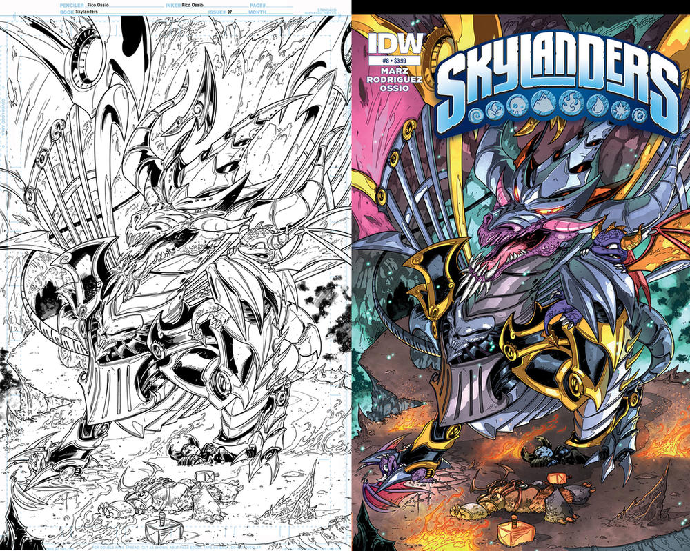 Skylanders 8 Cover by Fico-Ossio