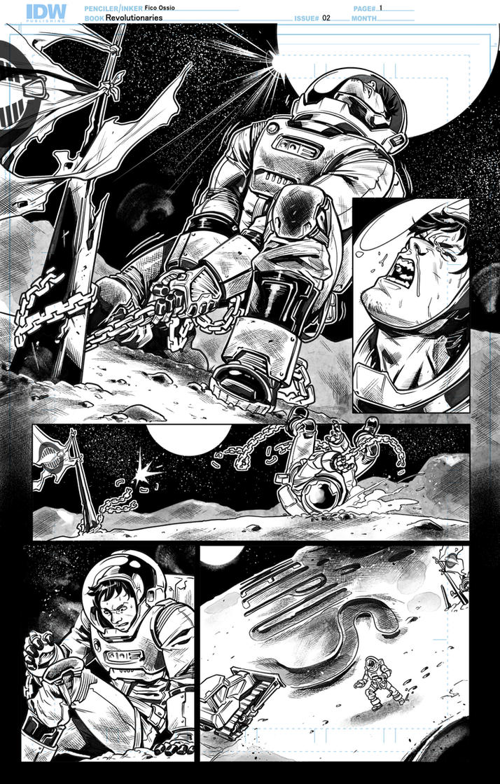 Revolutionaries 02 Inks page01 by Fico-Ossio