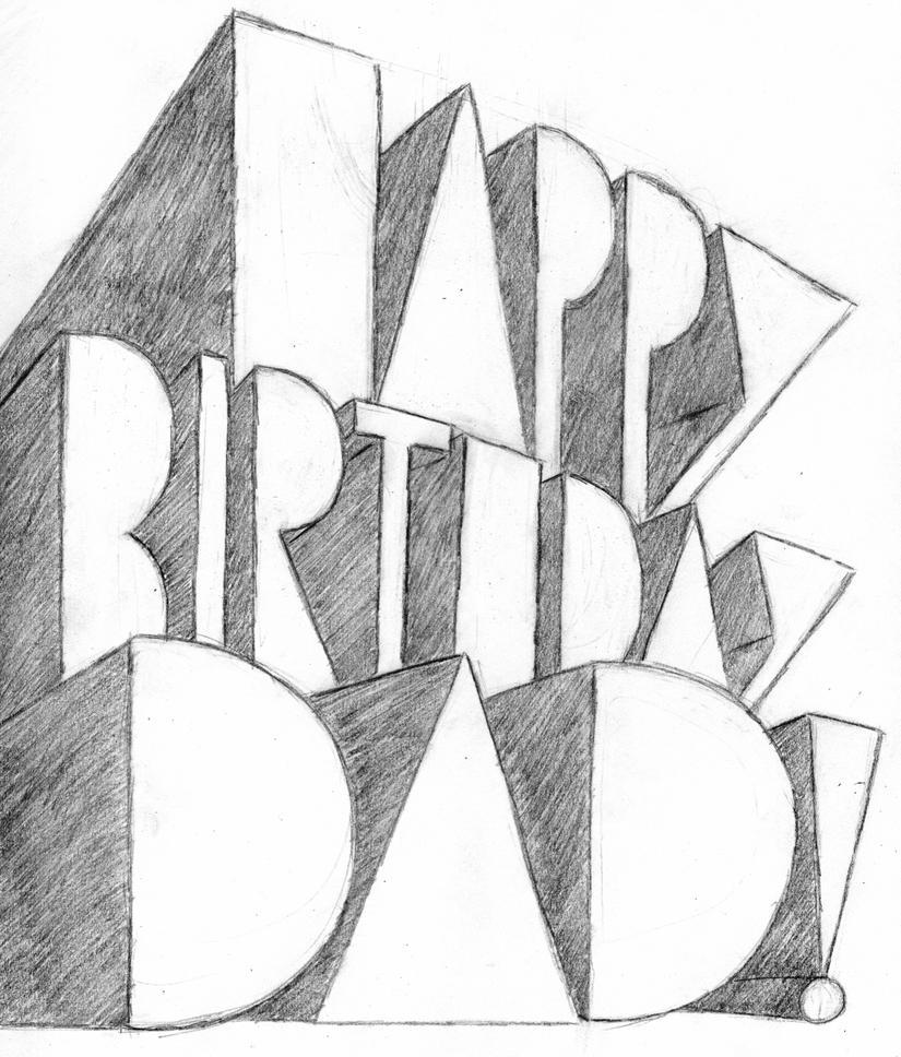 browsing drawings on deviantart, Birthday card
