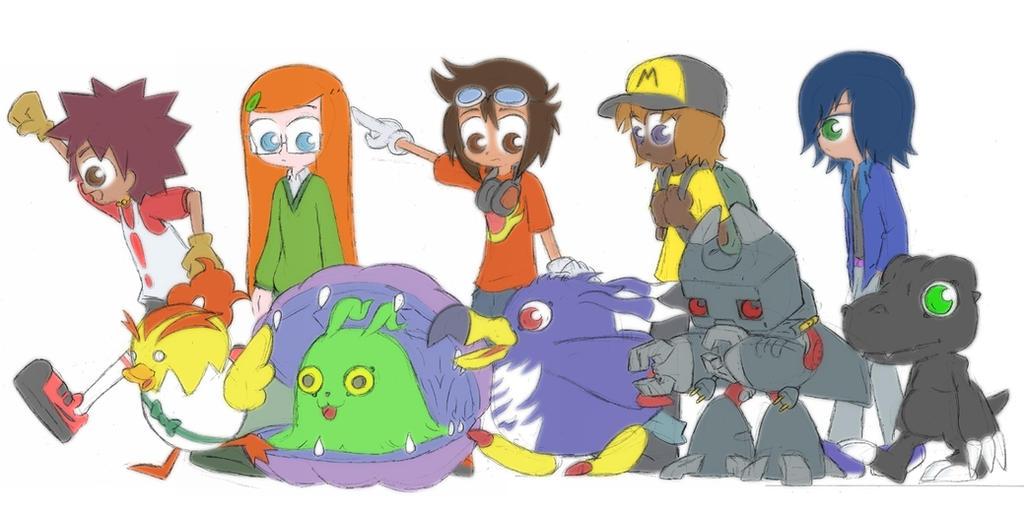 Digimon fan comic characters by Blitzkrieg1701