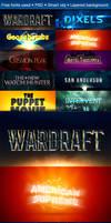 10 Cinematic 3D Logo MockUp
