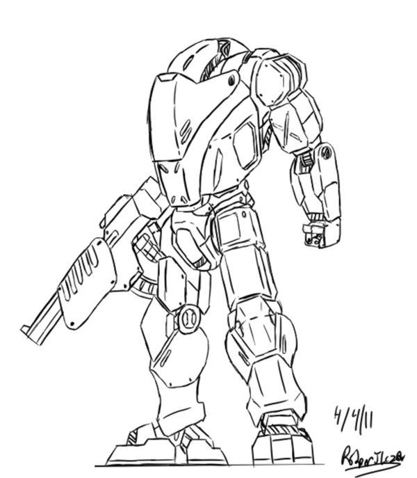 Battle Armor Suit By Xrob Machinesx On Deviantart