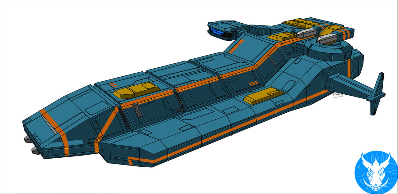 Light Attack Frigate concept art by xRob-Machinesx